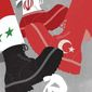 Illustration on the Syrian Kurd situation by Linas Garsys/The Washington Times
