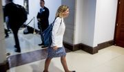 Rep. Debbie Wasserman Schultz, D-Fla., walks into a closed door meeting where former U.S. Ambassador William Taylor testifies as part of the House impeachment inquiry into President Donald Trump, on Capitol Hill in Washington, Tuesday, Oct. 22, 2019. (AP Photo/Andrew Harnik)