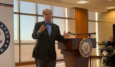 Republicans say out-of-state fundraising contributions to Sen. Doug Jones reinforces the image Alabamians already have of him as another liberal Democrat in Washington. Mr. Jones amassed most of his war chest from distant liberal colleges, law firms and Silicon Valley. (Associated Press)