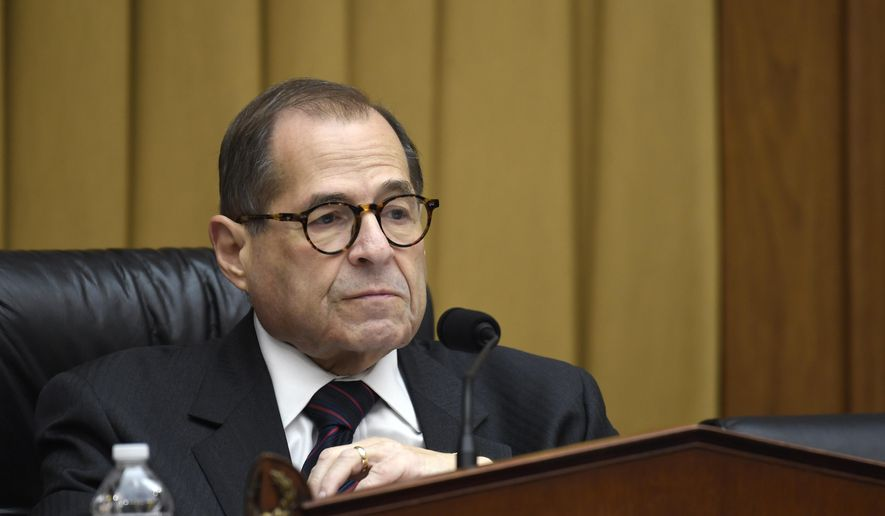 House Judiciary Committee Chairman Jerrold Nadler, D-N.Y., listens during a hearing on Capitol Hill in Washington, Tuesday, Oct. 22, 2019, on election security. (AP Photo/Susan Walsh) ** FILE **