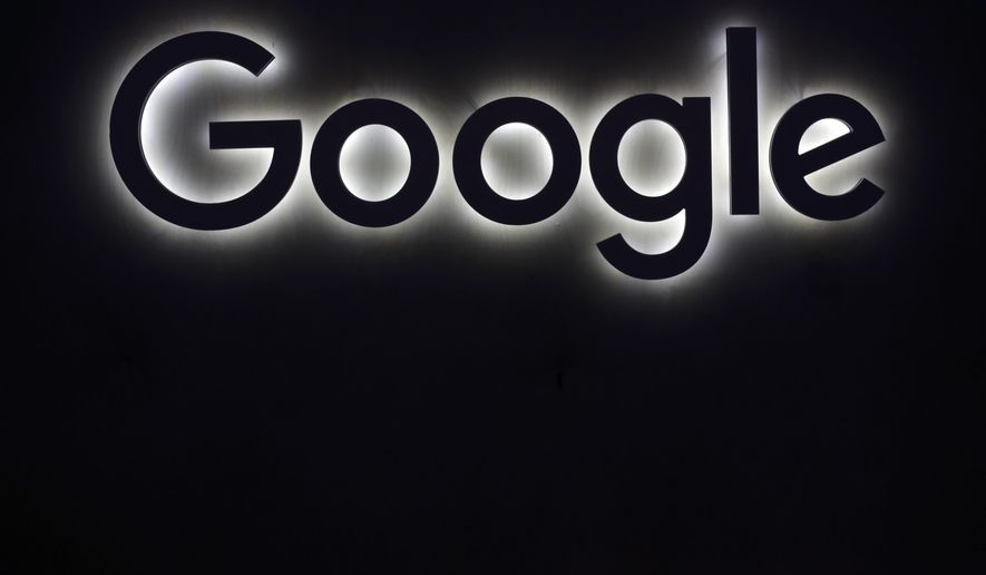 This Friday, June 16, 2017, file photo shows the Google logo at a gadgets show in Paris. Google said it has achieved a breakthrough in quantum computing research, saying its quantum processor has completed a calculation in just a few minutes that would take a traditional supercomputer thousands of years to finish. (AP Photo/Thibault Camus, File)