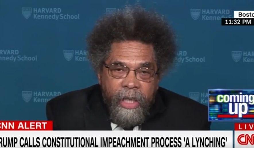 Author Cornel West discusses President Trump on CNN, Oct. 23, 2019. (Image: CNN screenshot)