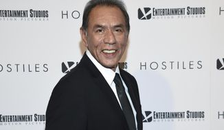 "FILE - This Dec. 18, 2017 file photo shows actor Wes Studi at a special screening of ""Hostiles"" in New York. Studi will become the first Native American actor to receive an Oscar Sunday night at the Governors Awards.  (Photo by Evan Agostini/Invision/AP, File)"