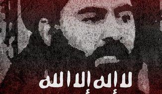 Illustration on the neutralization of al-Baghdadi by Greg Groesch/The Washington Times