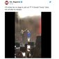 "Rapper ""YG"" kicks a young fan out from the Mala Luna music festival on Oct. 27, 2019 because he refused to curse out President Trump before a San Antonio audience. (Image: Twitter, XXL Magazine tweet screenshot)"