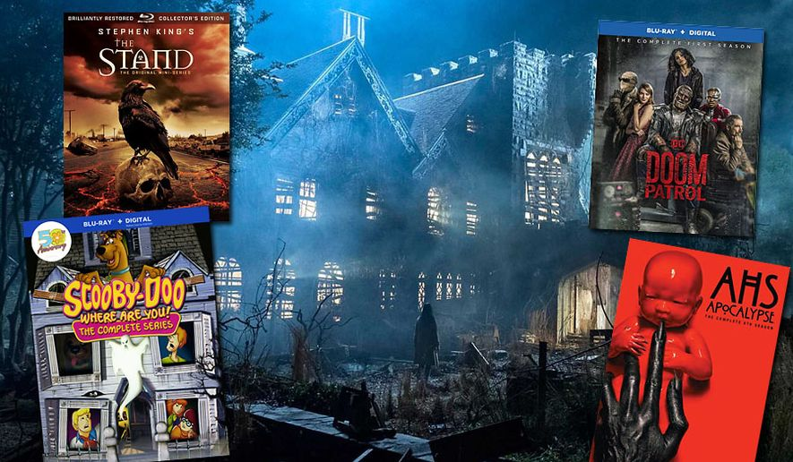 """""""Scooby-Doo, Where are You!: The Complete Series Limited Edition 50th Anniversary Mystery Mansion,"""" """"Doom Patrol: The Complete First Season,"""" """"Stephen King's The Stand,"""" """"The Haunting of Hill House: Extended Director's Cut"""" and """"American Horror Story: Apocalypse."""""""