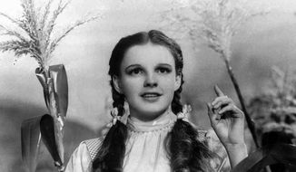 "Actress Judy Garland portrays Dorothy in ""The Wizard of Oz."" (AP Photo)  ** FILE **"