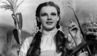"Actress Judy Garland portrays Dorothy in ""The Wizard of Oz."" (AP Photo)"