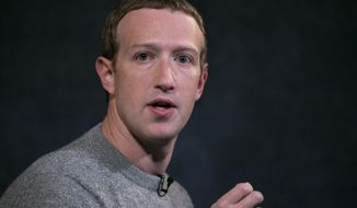 """Facebook CEO Mark Zuckerberg speaks about """"News Tab"""" at the Paley Center, Friday, Oct. 25, 2019, in New York. (AP Photo/Mark Lennihan) ** FILE **"""