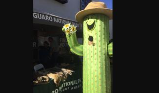 National Park Service mascot Sunny Saguaro. (National Park Service photo)