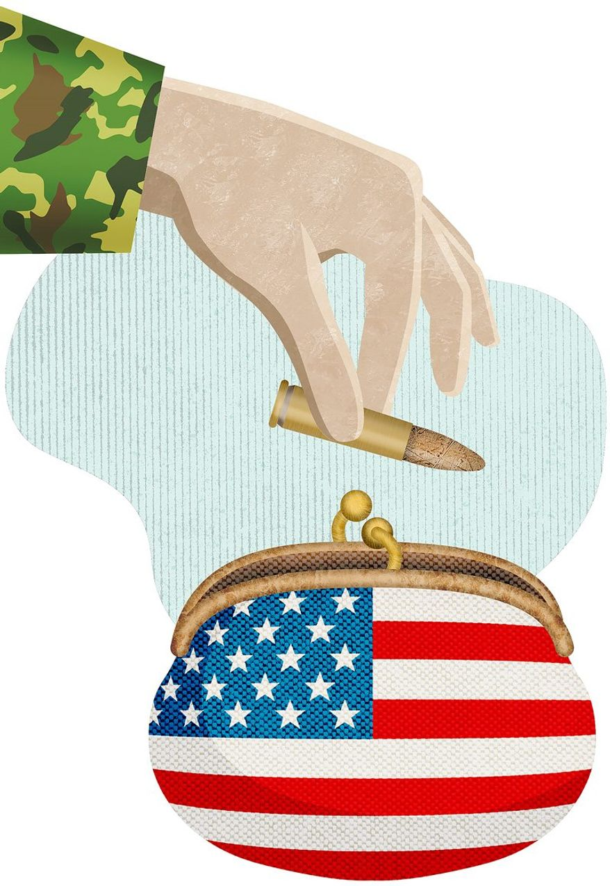 Economy of Scale Illustration by Greg Groesch/The Washington Times