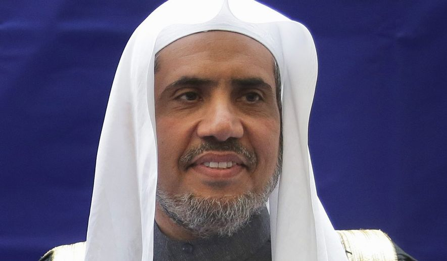 Mohammad Abdulkarim Al-Issa, Secretary-General of the Muslim World League,  in New York, Monday, April 29, 2019.  (AP Photo/Seth Wenig)