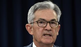 Federal Reserve Chairman Jerome Powell speaks during a news conference in Washington, Wednesday, Oct. 30, 2019. The Federal Reserve cut rates for the third time this year. (AP Photo/Susan Walsh)