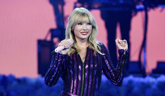 In this July 10, 2019, file photo Taylor Swift performs at Amazon Music's Prime Day concert in New York. Swift will be honored with the award for artist of the decade at this year's American Music Awards. (Photo by Evan Agostini/Invision/AP, File)