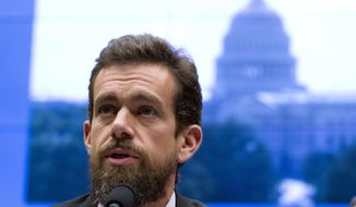 In this Sept. 5, 2018, file photo Twitter CEO Jack Dorsey testifies before the House Energy and Commerce Committee in Washington. (AP Photo/Jose Luis Magana) **FILE**