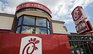 This Thursday, July 19, 2012, file photo shows a Chick-fil-A fast food restaurant in Atlanta. (AP Photo/Mike Stewart, File) **FILE**