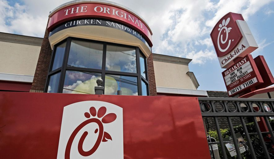 This Thursday, July 19, 2012, file photo shows a Chick-fil-A fast food restaurant in Atlanta. (AP Photo/Mike Stewart, File)