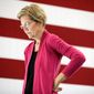 "Sen. Elizabeth Warren's plan would ban big corporations, banks and ""market-dominant"" companies from hiring senior government officials for at least four years after they leave public office. (Associated Press)"