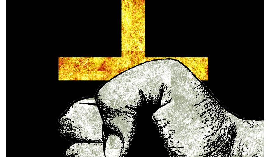 Illustration on persecution of Christians by Alexander Hunter/The Washington Times