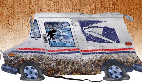 Postal Distress Illustration by Greg Groesch/The Washington Times