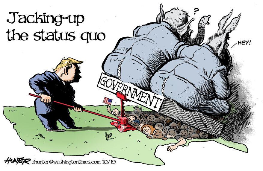Illustration by Alexander Hunter for The Washington Times (published October 31, 2019)