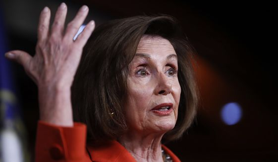 House Speaker Nancy Pelosi is a smart enough politician to know that impeachment will fail to remove the president and could very well cost Democrats control of the House. (Associated Press)