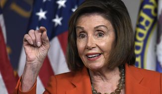 House Speaker Nancy Pelosi of Calif., speaks during a news conference on Capitol Hill in Washington, Thursday, Oct. 31, 2019. (AP Photo/Susan Walsh)