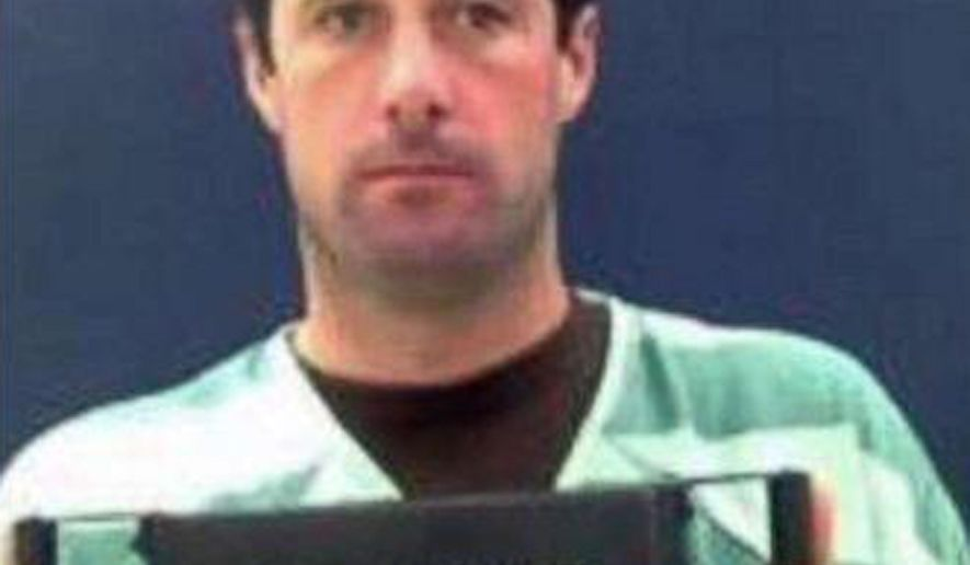 FILE - This undated file booking photo provided by the Teller County Sheriff's office shows Patrick Frazeee, who is accused of killing his fiancee and burning her body on his ranch. He has pleaded not guilty to first-degree murder in her death. Opening statements are expected Friday, Nov. 1, 2019 in his trial in Cripple Creek, Colorado. (Teller County Sheriff's Office via AP, File)