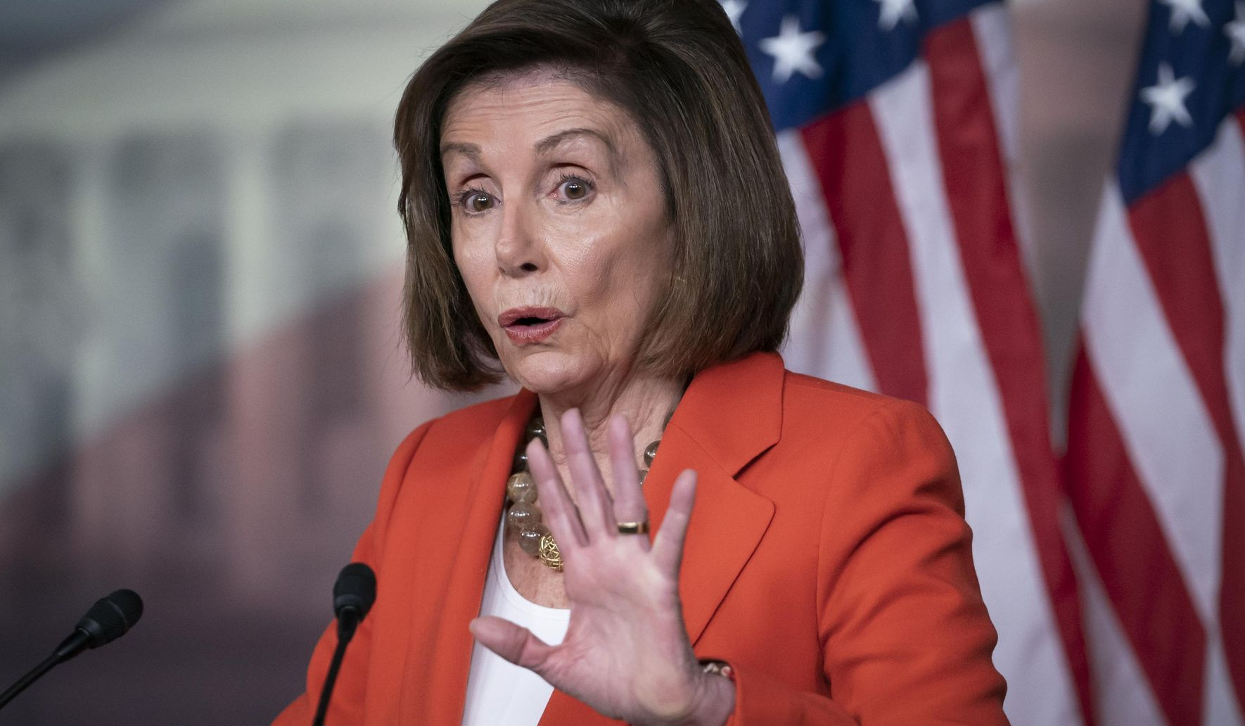 Nancy Pelosi on Stephen Colbert show says of impeachment inquiry: 'This is about the Constitution'