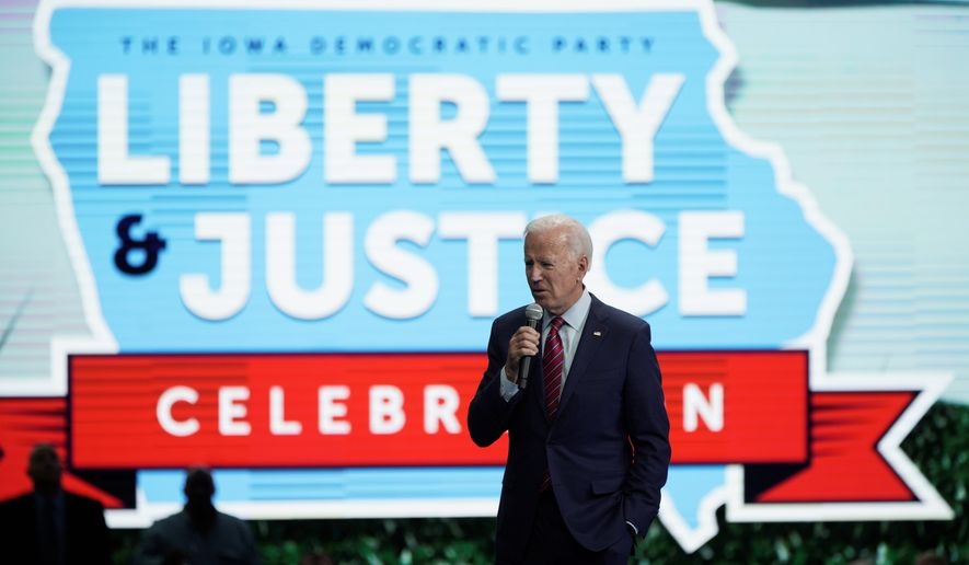 Former Vice President Joseph R. Biden so far has had a solid base of support among black voters. But it looks like his rivals are becoming more appealing. (Associated Press)