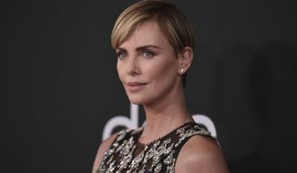 Charlize Theron arrives at the 23rd annual Hollywood Film Awards on Sunday, Nov. 3, 2019, at the Beverly Hilton Hotel in Beverly Hills, Calif. (Photo by Richard Shotwell/Invision/AP)