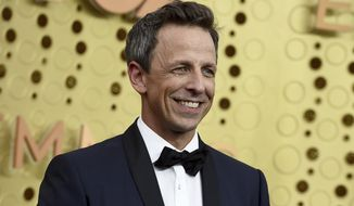 Seth Meyers arrives at the 71st Primetime Emmy Awards on Sunday, Sept. 22, 2019, at the Microsoft Theater in Los Angeles. (Photo by Jordan Strauss/Invision/AP)