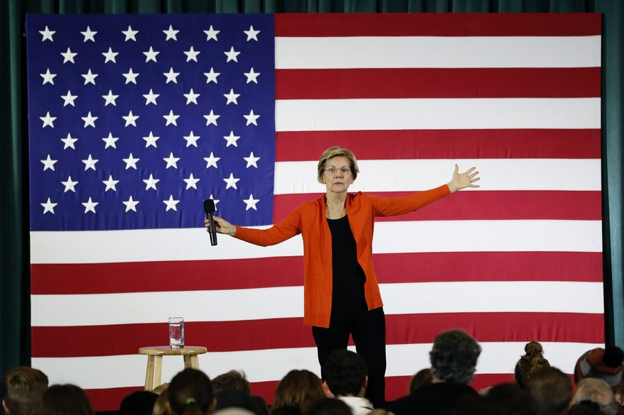 Democratic presidential candidate Sen. Elizabeth Warren speaks during a town hall meeting at Grinnell College, Monday, Nov. 4, 2019, in Grinnell, Iowa. (AP Photo/Charlie Neibergall)