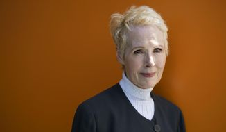 In this June 23, 2019, file photo, E. Jean Carroll is photographed in New York. (AP Photo/Craig Ruttle, File)