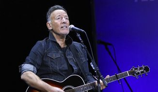 Bruce Springsteen performs at the 13th annual Stand Up For Heroes benefit concert in support of the Bob Woodruff Foundation at the Hulu Theater at Madison Square Garden on Monday, Nov. 4, 2019, in New York. (Photo by Greg Allen/Invision/AP)