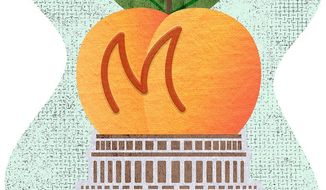 The Peach Dome Illustration by Greg Groesch/The Washington Times