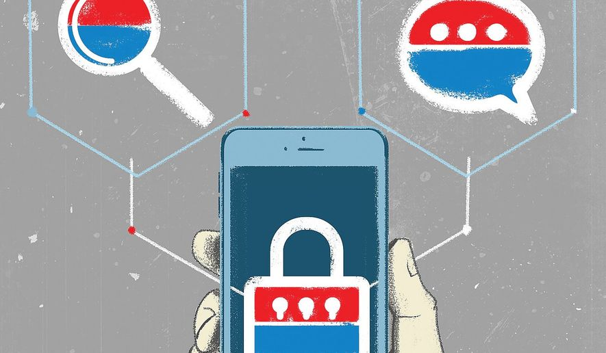 Illustration on internet platforms by Linas Garsys/The Washington Times