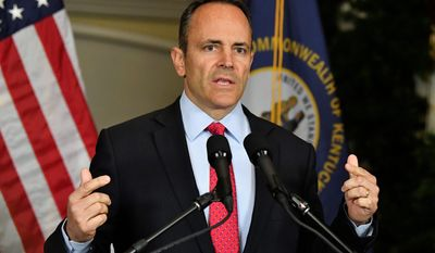 Kentucky Gov. Matt Bevin started his reelection campaign with an approval rating hovering around 30%. He hasn't conceded defeat. (Associated Press)