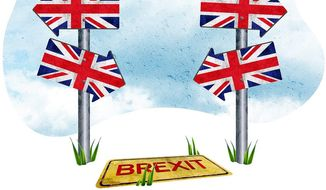 Procrastination of Brexit Illustration by Greg Groesch/The Washington Times