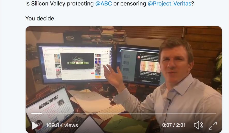 """Project Veritas president James O'Keefe says a """"vortex of propaganda"""" has been created to suppress his organization's bombshell on ABC News and its spiked story on billionaire sex offender Jeffrey Epstein. (Image: Twitter, James O'Keefe)"""