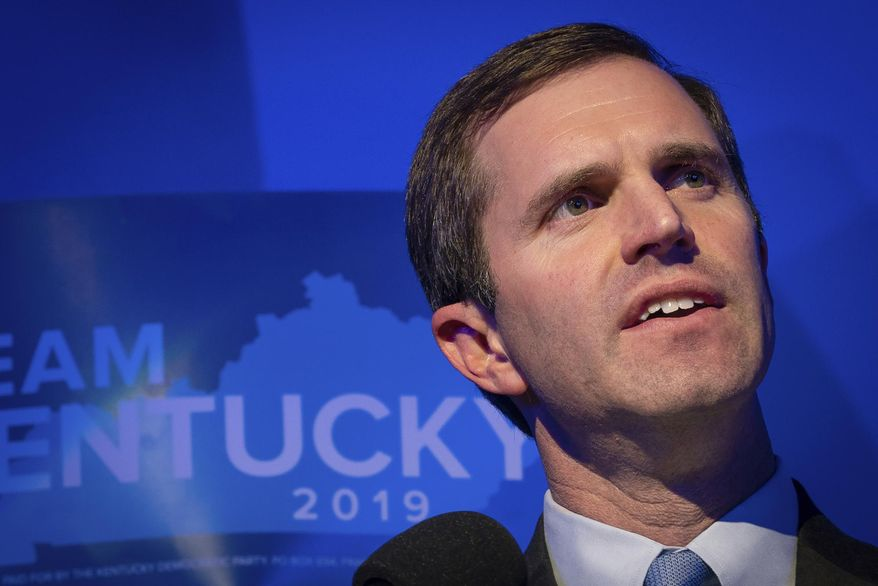 Kentucky Gov.-elect Andy Beshear defeated the unpopular Republican incumbent by envisioning responsible spending, not socialism for all. (Associated Press/File)