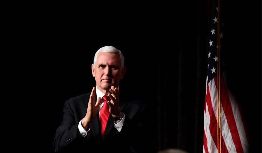 Vice President Mike Pence is being criticized for his office's funding of federal aid to several Christian groups, particularly those in the Nineveh Plains of Iraq. (ASSOCIATED PRESS)