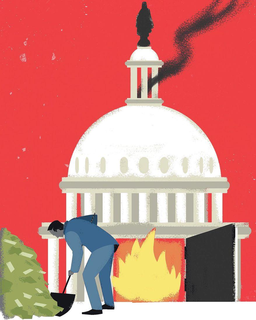Balanced Budget illustration by Linas Garsys