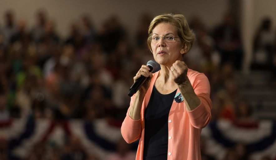 Democratic presidential candidate Sen. Elizabeth Warren, D-Mass. speaks during a meeting at Broughton High School in Raleigh, NC Thursday, Nov. 7, 2019. (Bryan Cereijo/The News & Observer via AP)