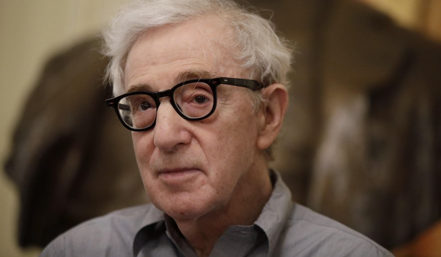 In this Tuesday, July 2, 2019, file photo, director Woody Allen attends a press conference at La Scala opera house, in Milan, Italy. (AP Photo/Luca Bruno) ** FILE **
