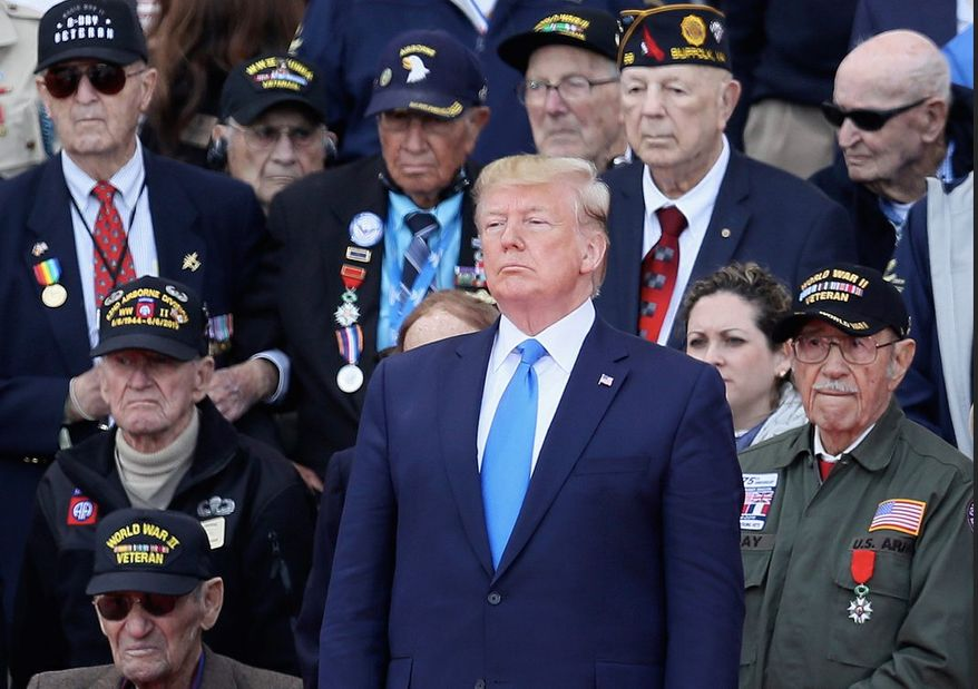 The American people as well as President Trump have high regard for military veterans. Two-thirds of Americans say they look up to veterans. (Associated Press)