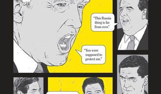 Yet another book on the Mueller Report is about to arrive from The Washington Post, this one featuring comic-book style illustrations. (Scribner Books)