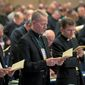 Bishops discussed gun control at the U.S. Conference of Catholic Bishops annual general assembly in Baltimore. They were divided over specific congressional actions. (ASSOCIATED PRESS)