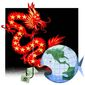 Illustration on Chinese global designs by Alexander Hunter/The Washington Times