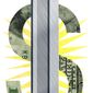 Illustration on the price of steel by Alexander Hunter/The Washington Times